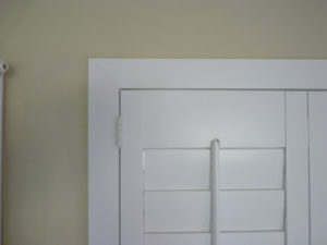 Close Up Of White Plantation Shutters