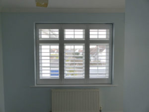 White Window Shutters With TPosts