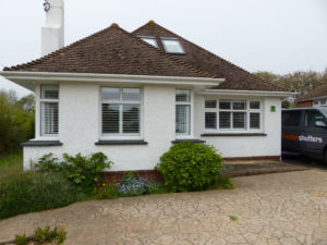 Shutters Fitted To Bungalow Windows