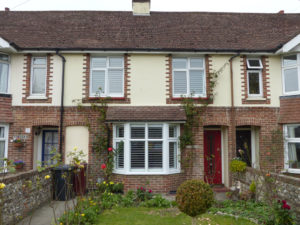 Terraced House With Bay Window Shutters